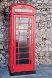 Cabine de telefone inglesa Fotografia de Stock Royalty Free