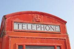 Cabine de telefone inglesa Foto de Stock