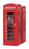 Cabine de telefone inglesa clássica Imagem de Stock