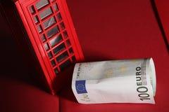 Cabine de telefone vermelha Fotos de Stock Royalty Free