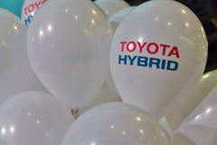Cabine de voiture hybride de Toyota sur l'exposition 2017 embrochable de Kiev Ukraine Image libre de droits