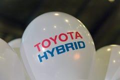 Cabine de voiture hybride de Toyota sur l'exposition 2017 embrochable de Kiev Ukraine Images libres de droits