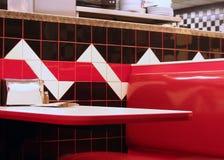 Cabine de wagon-restaurant photographie stock