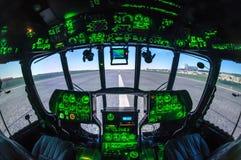 Cabine del simulatore dell'elicottero Fotografia Stock Libera da Diritti