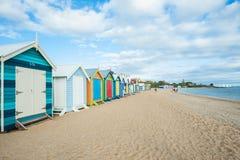 Cabine della spiaggia di Melbourne Fotografie Stock