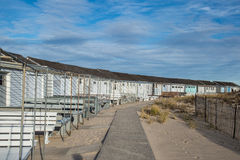 Cabine della spiaggia in Hampton New York orientale Fotografie Stock