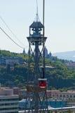 Cabine di funivia di Torre de St Sebastia Fotografia Stock