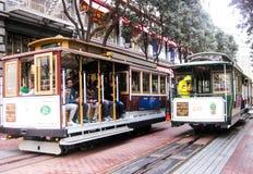 Cabine di funivia famose di San Francisco fotografie stock libere da diritti