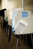 Cabine di voto fotografie stock
