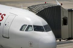 Cabine do avião Imagens de Stock Royalty Free