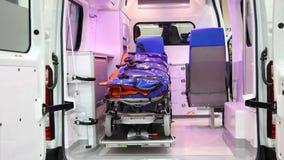 Cabine do carro da ambulância video estoque