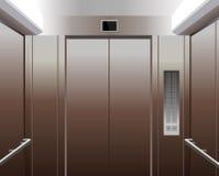 Cabine do elevador com teclas Imagens de Stock Royalty Free