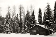 Cabine do inverno Foto de Stock Royalty Free