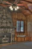 Cabine in een bos royalty-vrije stock afbeelding