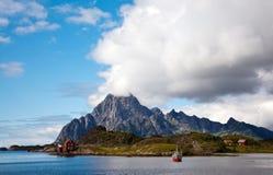 Cabine et bateau de Fisherman´s photo libre de droits