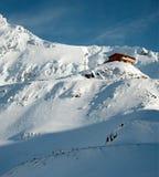 Cabine et neige Image libre de droits
