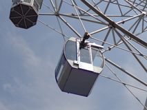 Cabine of the ferris wheel. royalty free stock image