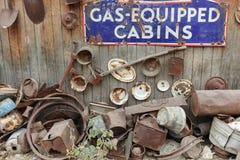 Cabine fornite gas, Oatman, Arizona fotografia stock