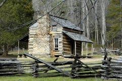 Cabine historique de John Oliver Photo stock