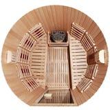 Cabine infravermelha da sauna Imagens de Stock