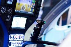 Cabine interna do helicóptero imagem de stock royalty free
