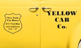 Cabine jaune Co de New York Taxi de vintage photographie stock libre de droits