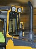 Cabine jaune de tracteur Images libres de droits