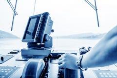 Cabine luxuosa do navio de cruzeiros Fotos de Stock Royalty Free