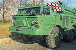 Cabine militaire auto Royalty-vrije Stock Afbeeldingen