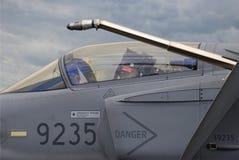 Cabine militaire d'avion à réaction Images stock