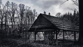Cabine nas madeiras Fotos de Stock