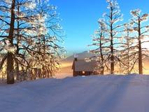 Cabine nevado Fotografia de Stock