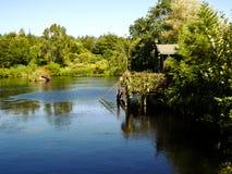 Cabine par le lac Images libres de droits