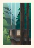 Cabine pequena nas madeiras Imagens de Stock Royalty Free