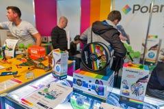 Cabine polaroïd de stylo du jeu 3D pendant l'ECO 2017 à Kiev, Ukraine Images stock
