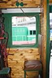 Cabine of steam locomotive stock photos