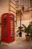 Cabine téléphonique à Malte image libre de droits