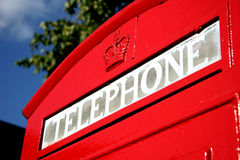 Cabine téléphonique britannique Photographie stock libre de droits