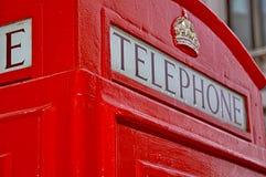 Cabine téléphonique de Londres Photos stock