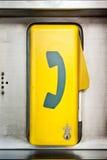 Cabine téléphonique de secours Image stock