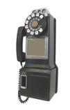 Cabine téléphonique de vintage d'isolement. Photo stock