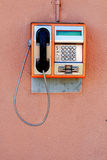 Cabine téléphonique publique Image libre de droits