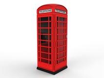 Cabine téléphonique rouge Photo stock