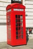 Cabine téléphonique rouge Photo libre de droits