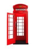 Cabine téléphonique rouge britannique illustration libre de droits