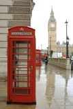 Cabine téléphonique rouge de Londres image stock