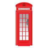 Cabine téléphonique rouge - Londres - très détaillée Photographie stock