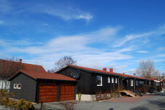 A cabine típica em Noruega norte Imagens de Stock Royalty Free
