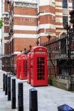 Cabine telefoniche rosse di Londra Fotografia Stock Libera da Diritti