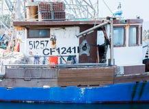 Cabine van een uitstekende vissersboot in een haven van Californië Royalty-vrije Stock Foto's